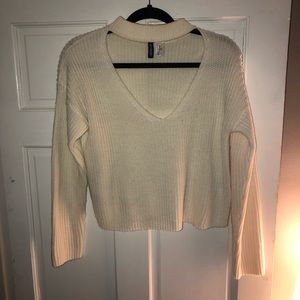 H&M cutout front sweater